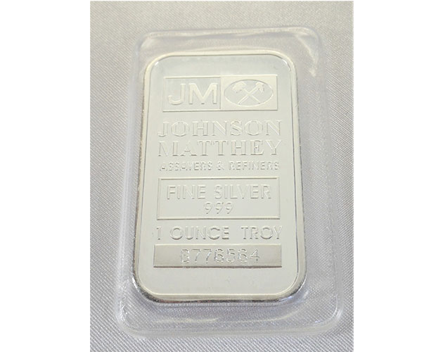 Johnson Matthey 1oz Fine Silver Bar With Serial Number